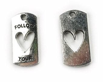 5 pcs Follow-Your-Heart Charm - choose your color
