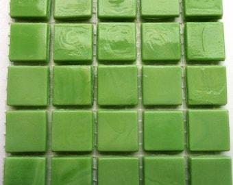 "15mm (3/5"") Lime Kiwi Green Opaque Glass Mosaic Tiles//Mosaic Supplies//Mosaic Pieces//Crafts"