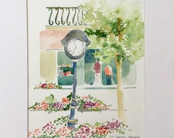 Watercolor of Mainstreet Fairhope