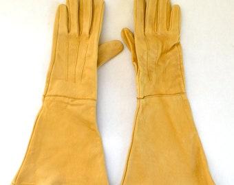 "Ladies' Deerskin Rose Pruning, Gardening Gloves - Natural Deerskin - ""Gates"" Brand - Size Medium"