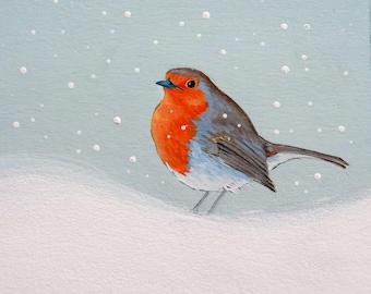 Robin Painting - Original art