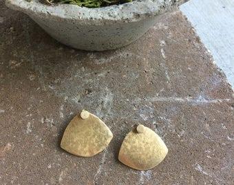 Brass Jacket Earrings