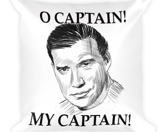 O Captain! My Captain Square Pillow- Christmas Gift- Throw Pillow, Bed Pillow, Kids Room Decor