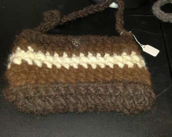 Handmade alpaca purse/ONE SALE