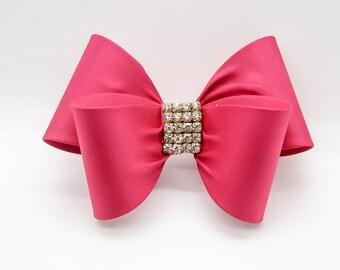Hot Pink Hair Clip, Pink Bow Hair Clip, Bow Hair Clip, Toddler Pink Hair Clip, Girls Bow Hair Clip, Big Bow Hair Clip, 1004
