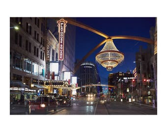 Cleveland at Night - Chandelier - Playhouse Square - Multiple Exposure - Night Photography - Color Photo Print - Art Photography (CL03)