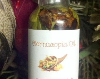 Cornucopia Oil, Voodoo, Hoodoo, Conjure, Autumn, Harvest, Thanksgiving, Anointing, Pagan, Wiccan