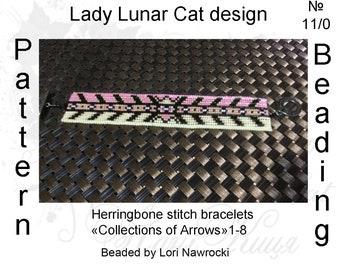 Herringbone stitch patterns, Beaded bracelets patterns, Spring seed bead, Summer beading, Beadwork
