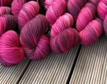 Turkish Delight hand dyed Australian 4ply sock yarn