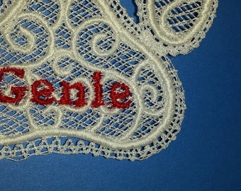 Personalized Lace Paw Shaped Ornament