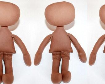 3 blank doll body blank rag doll cloth doll body doll blank dol making body textile doll body craft doll body doll making supply doll supply