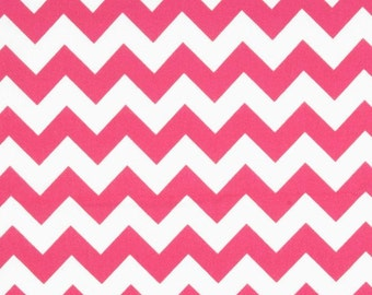 Riley Blake Medium Hot Pink Chevron - One Yard