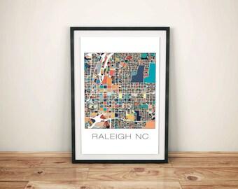 Raleigh Poster, Raleigh NC Map, Raleigh Print, Art, Map Art, City Maps, Raleigh NC, Raleigh