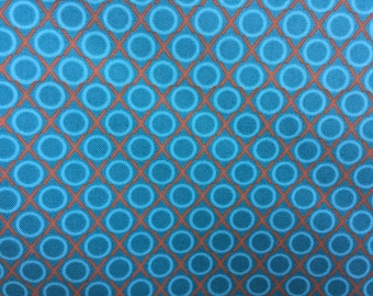 Quilting Cotton Anna Maria Horner AH 45 Loulouthi Hugs and Kisses in Ocean - One yard cut