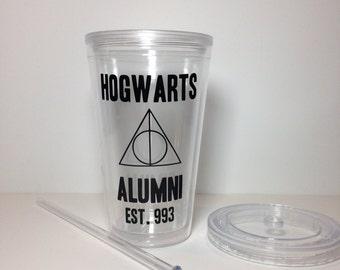 Hogwarts Alumni 16oz acrylic tumbler