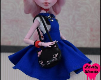 Monster doll Cat Purse High Fashion Ever After Doll Pastel Goth Punk Rock