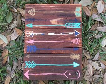 decorative arrow decor, wood pallet sign, wooden sign, pallet art