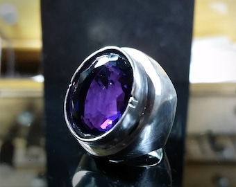 Hydro Amethyst Size 7 Signet Style Ring