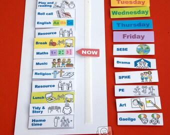 Starting School in Ireland Pack - Desk schedule