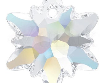 Swarovski 6748 Edelweiss Pendant  28 mm Crystal Aurore Boreale