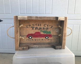Christmas truck pallet tray
