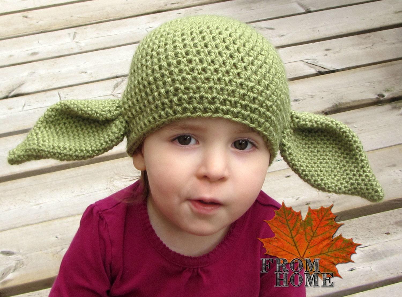 Yoda / Dobby the House Elf Crochet Hat Baby Toddler Child