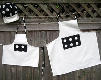 Mother/Daughter matching Apron and Chef hat
