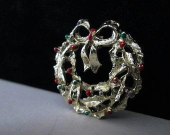 Christams Wreath Brooch