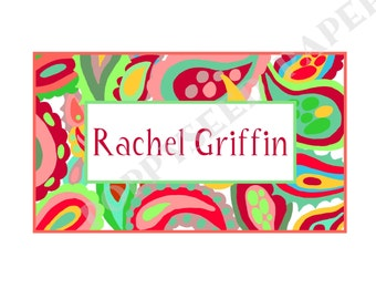 Personalized folded note cards, stationery