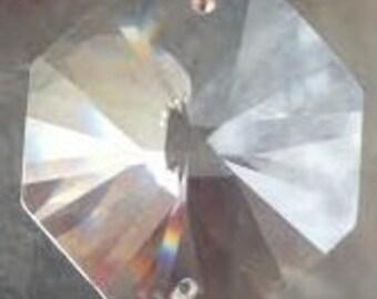Chandelier Crystal Prism VINTAGE 30mm Chandelier Crystal Prism Octagon Crystal Hollywood Regency