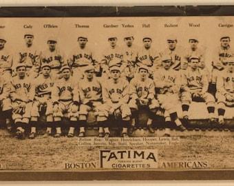 Boston Red Sox 1913 baseball card Fatima cigarettes reproduction large print