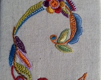 Embroidered hanging letter