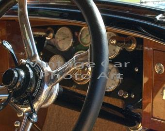 1928 Isotta Fraschini Instrument Panel, Dashboard, Vintage Car, Classic Car, Gauges, Instruments, Antique Car, Garage Art, Man Cave, Digital