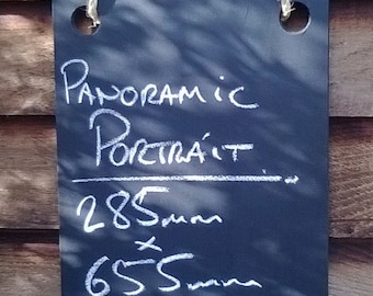 Panoramic Portrait Double sided Chalkboard - Hanging Frameless Blackboard