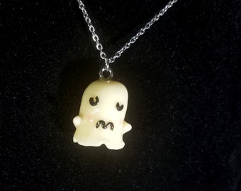 Cute Sad Ghost Necklace