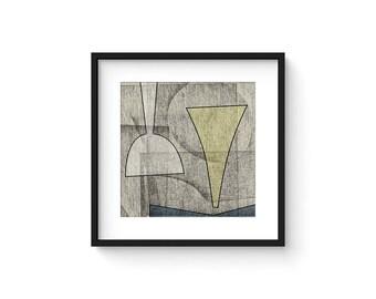OMNIA no.6 - Abstract Modern Minimalist Mid Century Brutalist Style Art Print