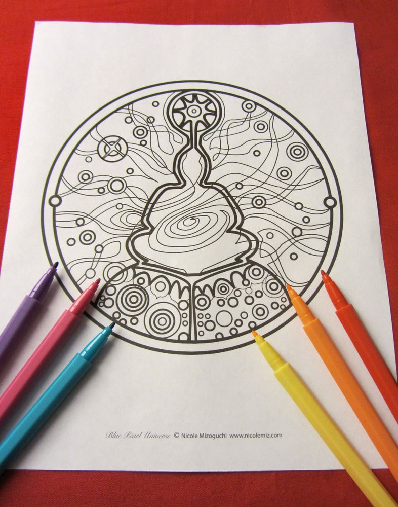 Meditating Buddha Coloring Page single page Mandala to print