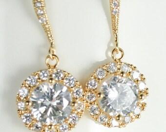 Bridal earrings,yellow gold earrings,Rose gold drop earring,white gold bridal earrings,Bridal jewelry,wedding jewelry,rose gold bridal