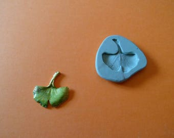 silicone mold for polymer clay wepam gingko leaf
