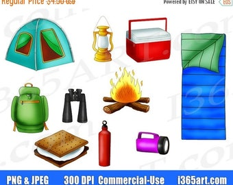 50% OFF Camping Clipart, Camping Clip art, Camp Clipart, Camping, Summer Camp, Outdoor, Scrapbooking, Party Invitations, PNG, Commercial
