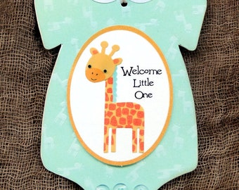 Welcome Little One Giraffe New Baby Shower Favor Gift or Scrapbook Tags #370