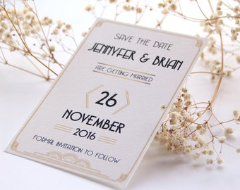 Gatsby Style Save the Date, Art Deco Save the Date, Vintage Save the Date, Save the Date, Wedding Save the Date