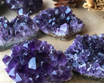 DARK AMETHYST Geodes from Uruguay - Grade AAA Raw Amethyst Purple Crystal Geode - For Reiki, Crystal Healing, Meditation Altar, Chakras