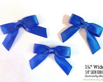 12/24/48/100 Royal Blue Mini Handmade Bows