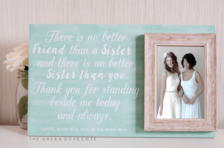 Schwester-Hochzeits-Geschenke Brautjungfer Geschenke