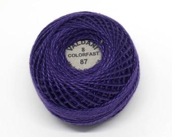 Valdani Pearl Cotton Thread Size 8 Solid: #87 Rich Purple