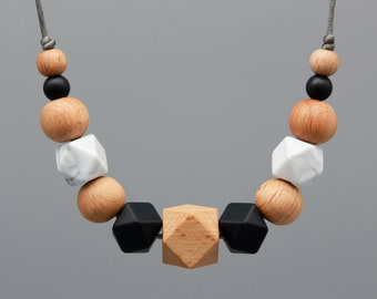 """Necklace/Still Chain """"Everest"""" Silicone wood Jewelry"""