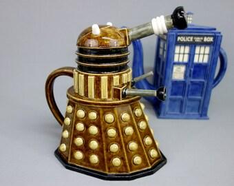Highly Detailed Dalek Teapot - Handmade Ceramic Sculptural Teapot, Made to Order