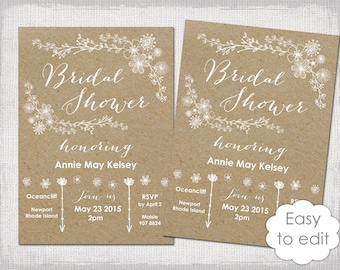 Ladies And Lemonade Inspired Bridal Shower Digital Invitations