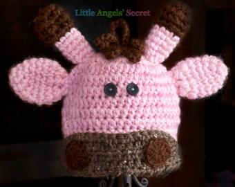Giraffe crochet hat, Baby Girl Giraffe crochet Hat,  baby girl crochet hat, photo pro, Giraffe baby accessories, Crochet hat.